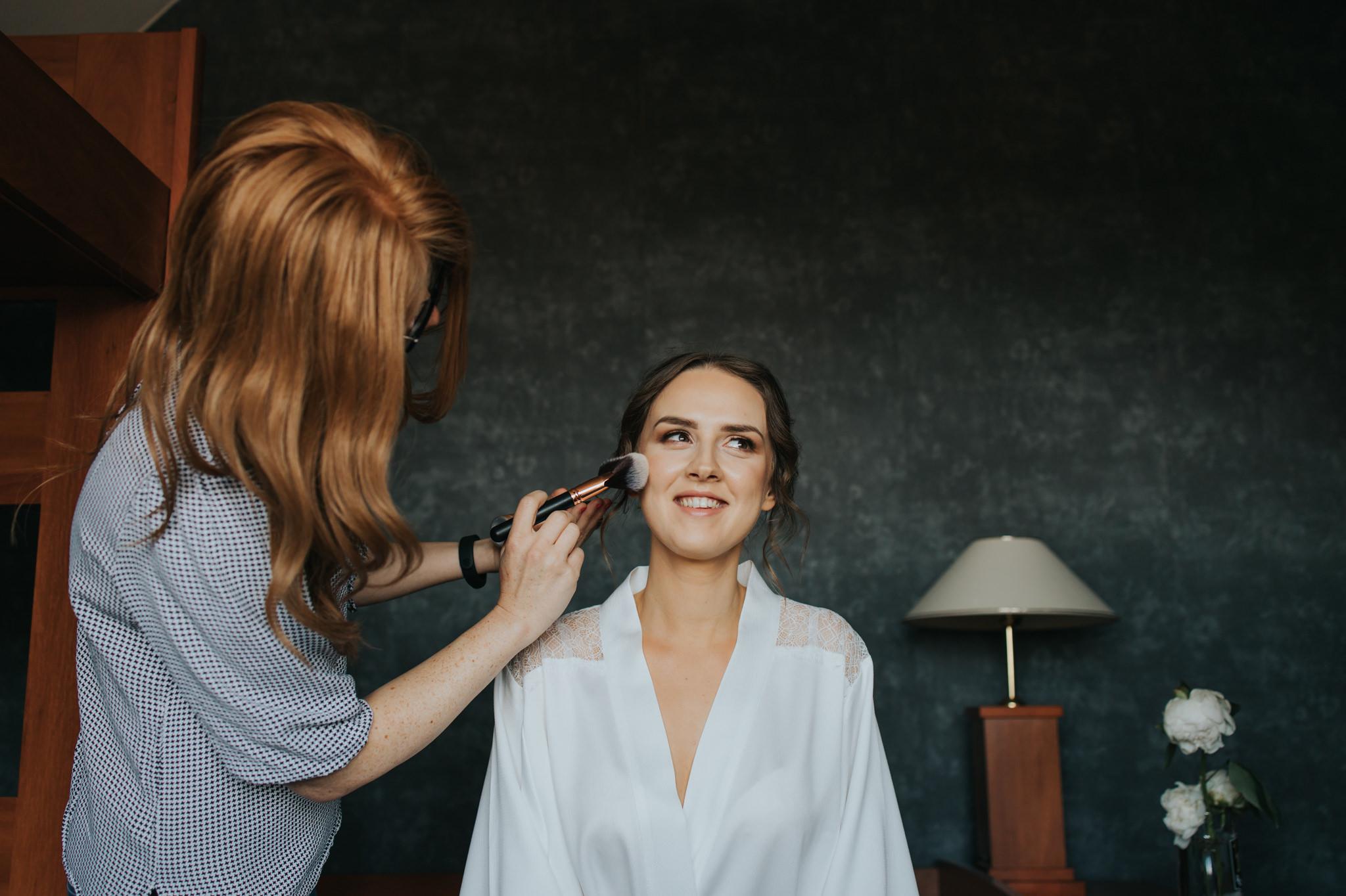 makijaż ślubny Michaliny ząbki