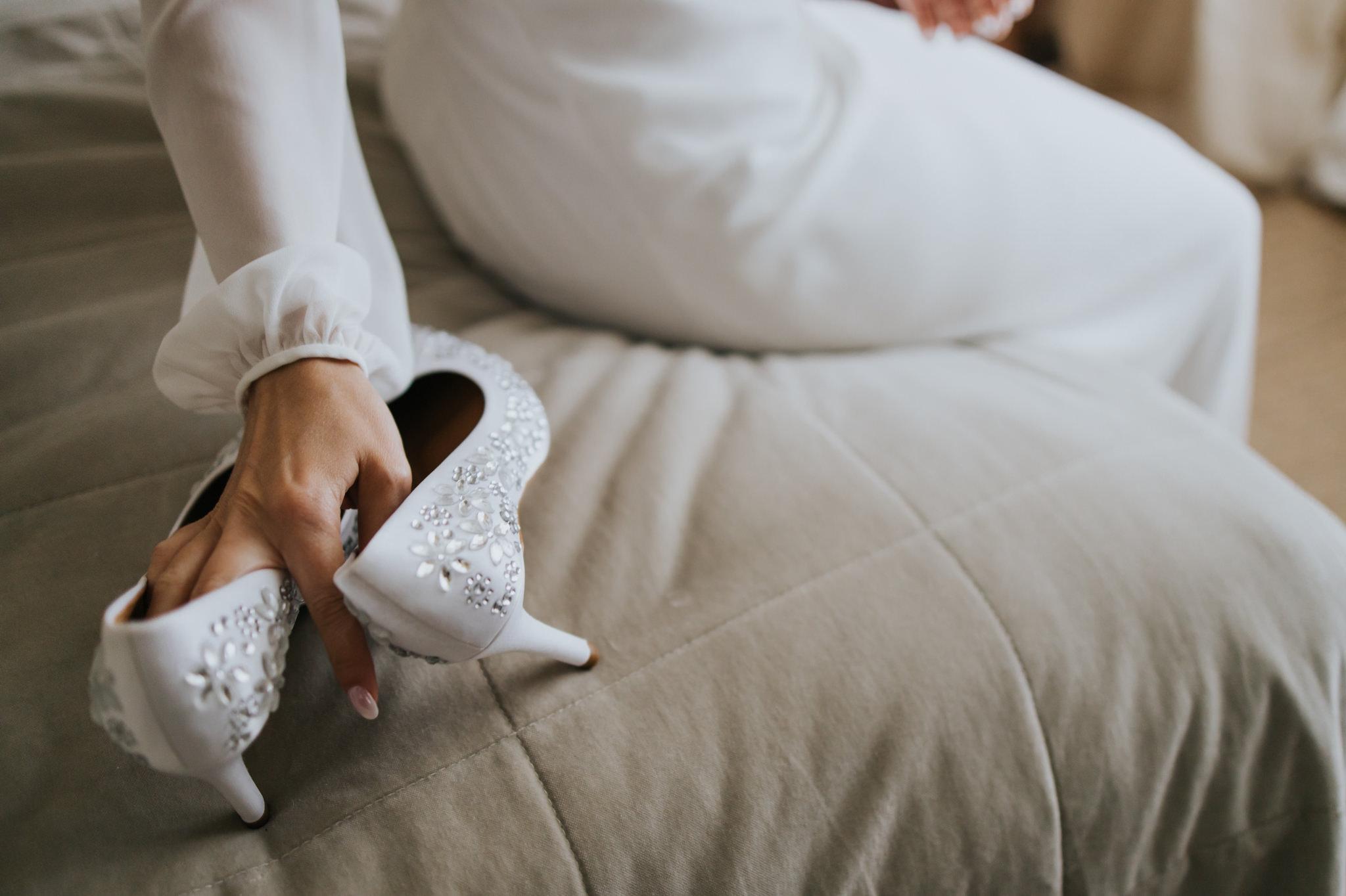 buty ślubne miętowe wzgórza
