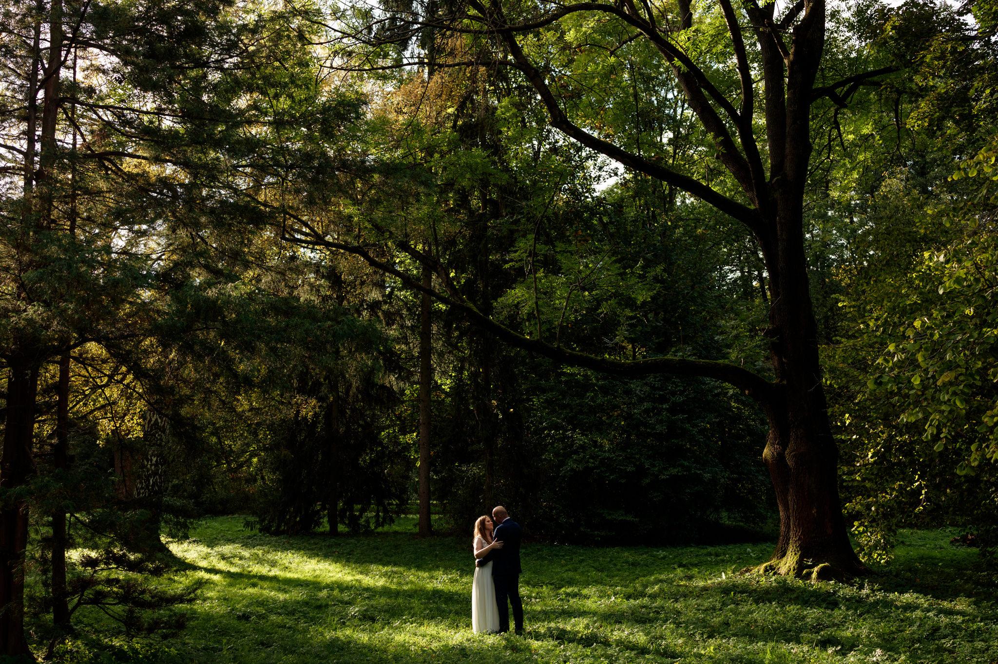 fotograf ślubny sesja plenerowa łazienki królewski